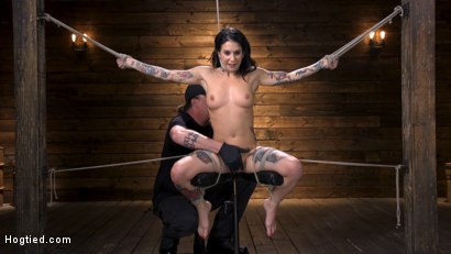 Photo number 2 from Joanna Angel Submits to The Pope! shot for Hogtied on Kink.com. Featuring Joanna Angel in hardcore BDSM & Fetish porn.
