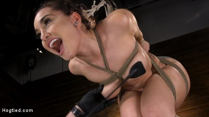 Photo number 7 from Curvy Slut Gabriella Paltrova in Grueling Rope Bondage and Tormented shot for Hogtied on Kink.com. Featuring Gabriella Paltrova in hardcore BDSM & Fetish porn.