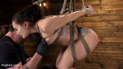 Photo number 8 from Curvy Slut Gabriella Paltrova in Grueling Rope Bondage and Tormented shot for Hogtied on Kink.com. Featuring Gabriella Paltrova in hardcore BDSM & Fetish porn.