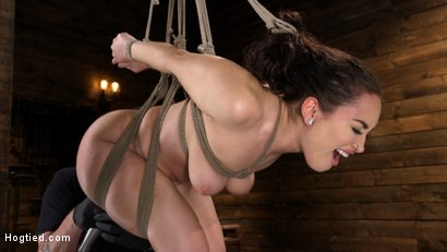 Photo number 10 from Curvy Slut Gabriella Paltrova in Grueling Rope Bondage and Tormented shot for Hogtied on Kink.com. Featuring Gabriella Paltrova in hardcore BDSM & Fetish porn.
