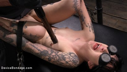 Photo number 11 from Charlotte Sartre Bound In Pipe And Chains shot for Device Bondage on Kink.com. Featuring Charlotte Sartre in hardcore BDSM & Fetish porn.