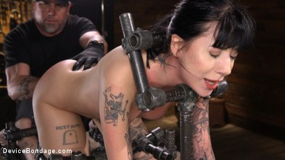 Photo number 9 from Charlotte Sartre Bound In Pipe And Chains shot for Device Bondage on Kink.com. Featuring Charlotte Sartre in hardcore BDSM & Fetish porn.