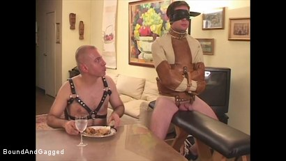 Photo number 1 from Boysitting: Dinner and Bedtime shot for Bound And Gagged on Kink.com. Featuring Oskar and Sean Patrick in hardcore BDSM & Fetish porn.