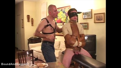 Photo number 6 from Boysitting: Dinner and Bedtime shot for Bound And Gagged on Kink.com. Featuring Oskar and Sean Patrick in hardcore BDSM & Fetish porn.