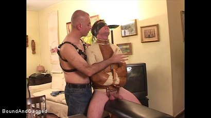 Photo number 9 from Boysitting: Dinner and Bedtime shot for Bound And Gagged on Kink.com. Featuring Oskar and Sean Patrick in hardcore BDSM & Fetish porn.