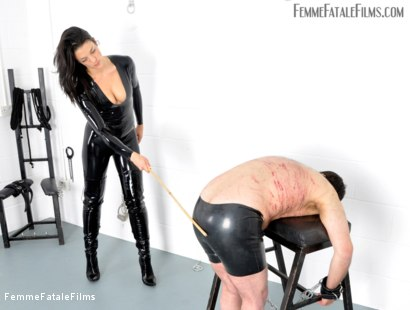 Photo number 2 from Willing To Please shot for Femme Fatale Films on Kink.com. Featuring The Hunteress and Slave in hardcore BDSM & Fetish porn.