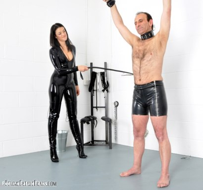 Photo number 8 from Willing To Please shot for Femme Fatale Films on Kink.com. Featuring The Hunteress and Slave in hardcore BDSM & Fetish porn.
