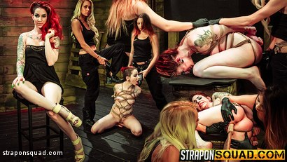 Rope Suspension BDSM for Sheena Rose with Mila Blaze & Alexa Rydell