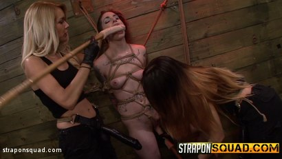 Photo number 5 from Rope Suspension BDSM for Sheena Rose with Mila Blaze & Alexa Rydell shot for Strapon Squad on Kink.com. Featuring Sheena Rose, Mila Blaze and Alexa Rydell in hardcore BDSM & Fetish porn.