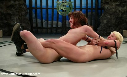 Photo number 7 from TAG TEAM DEBUT <BR>The Nightmare & Vendetta<br> vs <br> The Gymnast & Spartica shot for Ultimate Surrender on Kink.com. Featuring Syd Blakovich, Vendetta, Wenona and Devi Lynne in hardcore BDSM & Fetish porn.