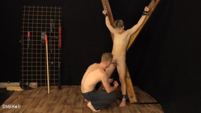 Photo number 2 from Tomas Hozman Endures Shocking Voltage shot for Str8Hell on Kink.com. Featuring Tom Vojak and Tomas Hozman in hardcore BDSM & Fetish porn.