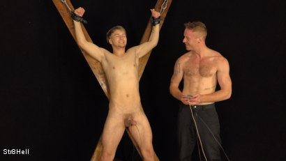 Photo number 14 from Tomas Hozman Endures Shocking Voltage shot for Str8Hell on Kink.com. Featuring Tom Vojak and Tomas Hozman in hardcore BDSM & Fetish porn.