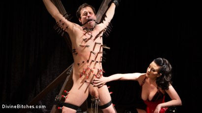 Photo number 9 from A Divine New Years: Cherry Torn celebrates with slave's screams shot for Divine Bitches on Kink.com. Featuring Cherry Torn and Marcelo in hardcore BDSM & Fetish porn.