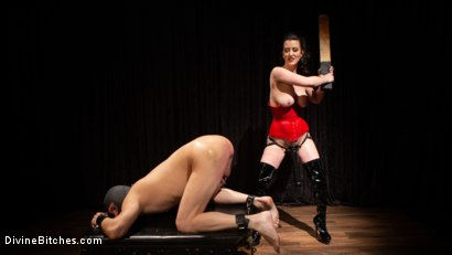 Photo number 7 from A Divine New Years: Cherry Torn celebrates with slave's screams shot for Divine Bitches on Kink.com. Featuring Cherry Torn and Marcelo in hardcore BDSM & Fetish porn.