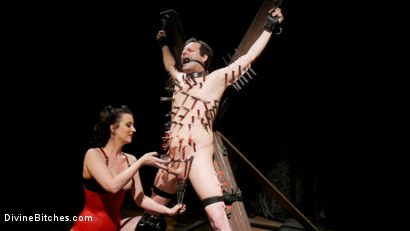 Photo number 8 from A Divine New Years: Cherry Torn celebrates with slave's screams shot for Divine Bitches on Kink.com. Featuring Cherry Torn and Marcelo in hardcore BDSM & Fetish porn.