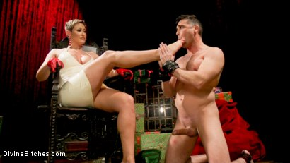 Photo number 16 from Holiday Tribute: Ryan Keely receives new toy Lance Hart shot for Divine Bitches on Kink.com. Featuring Ryan Keely and Lance Hart in hardcore BDSM & Fetish porn.