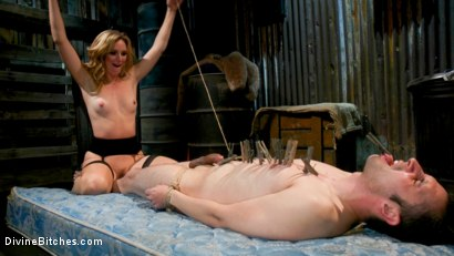 Photo number 16 from Mona Wales milks her daddy's new associate for assets  shot for Divine Bitches on Kink.com. Featuring Mona Wales and Papa Georgio in hardcore BDSM & Fetish porn.