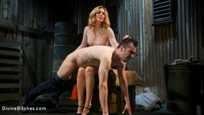 Photo number 5 from Mona Wales milks her daddy's new associate for assets  shot for Divine Bitches on Kink.com. Featuring Mona Wales and Papa Georgio in hardcore BDSM & Fetish porn.