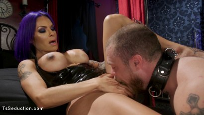 Photo number 13 from Boyfriend PUNISHMENT: TS Foxxy Pounds Loser Boyfriend Mike Panic's Ass shot for TS Seduction on Kink.com. Featuring TS Foxxy and Mike Panic in hardcore BDSM & Fetish porn.
