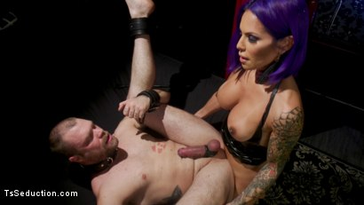 Photo number 17 from Boyfriend PUNISHMENT: TS Foxxy Pounds Loser Boyfriend Mike Panic's Ass shot for TS Seduction on Kink.com. Featuring TS Foxxy and Mike Panic in hardcore BDSM & Fetish porn.
