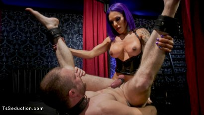 Photo number 18 from Boyfriend PUNISHMENT: TS Foxxy Pounds Loser Boyfriend Mike Panic's Ass shot for TS Seduction on Kink.com. Featuring TS Foxxy and Mike Panic in hardcore BDSM & Fetish porn.