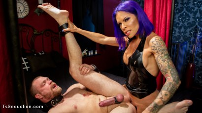 Photo number 20 from Boyfriend PUNISHMENT: TS Foxxy Pounds Loser Boyfriend Mike Panic's Ass shot for TS Seduction on Kink.com. Featuring TS Foxxy and Mike Panic in hardcore BDSM & Fetish porn.