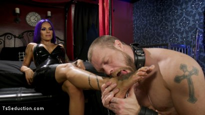Photo number 7 from Boyfriend PUNISHMENT: TS Foxxy Pounds Loser Boyfriend Mike Panic's Ass shot for TS Seduction on Kink.com. Featuring TS Foxxy and Mike Panic in hardcore BDSM & Fetish porn.