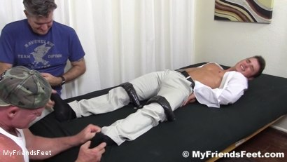 Photo number 3 from Sexy Hunk Matthew Tickled shot for My Friends Feet on Kink.com. Featuring Matthew C in hardcore BDSM & Fetish porn.