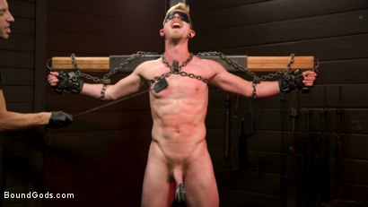 Photo number 13 from Pushed to the Max: Cody Winter takes it all shot for Bound Gods on Kink.com. Featuring Sebastian Keys and Cody Winter in hardcore BDSM & Fetish porn.