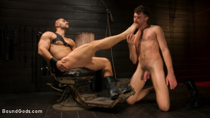 Photo number 15 from Fresh Meat: Arad Winwin Trains New Slave shot for Bound Gods on Kink.com. Featuring Arad Winwin and Cayden Stone in hardcore BDSM & Fetish porn.