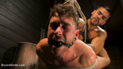 Photo number 8 from Fresh Meat: Arad Winwin Trains New Slave shot for Bound Gods on Kink.com. Featuring Arad Winwin and Cayden Stone in hardcore BDSM & Fetish porn.