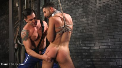 Photo number 22 from Angel Duran Broken In and Stretched Out shot for Bound Gods on Kink.com. Featuring Dominic Pacifico and Angel Duran in hardcore BDSM & Fetish porn.