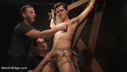 Photo number 12 from Shy Quiet Type, Alex Chandler Can Barely Hold His Load shot for Men On Edge on Kink.com. Featuring Alex Chandler in hardcore BDSM & Fetish porn.