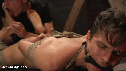 Photo number 15 from Shy Quiet Type, Alex Chandler Can Barely Hold His Load shot for Men On Edge on Kink.com. Featuring Alex Chandler in hardcore BDSM & Fetish porn.
