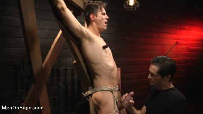 Photo number 7 from Shy Quiet Type, Alex Chandler Can Barely Hold His Load shot for Men On Edge on Kink.com. Featuring Alex Chandler in hardcore BDSM & Fetish porn.