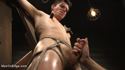 Photo number 8 from Shy Quiet Type, Alex Chandler Can Barely Hold His Load shot for Men On Edge on Kink.com. Featuring Alex Chandler in hardcore BDSM & Fetish porn.