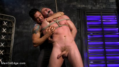 Photo number 10 from Newcomer Straight Stud Sean Holmes Submits to Dominic Pacifico shot for Men On Edge on Kink.com. Featuring Sean Holmes in hardcore BDSM & Fetish porn.