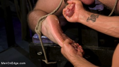 Photo number 14 from Newcomer Straight Stud Sean Holmes Submits to Dominic Pacifico shot for Men On Edge on Kink.com. Featuring Sean Holmes in hardcore BDSM & Fetish porn.