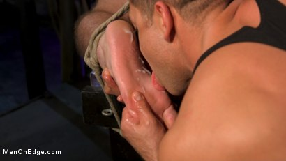 Photo number 15 from Newcomer Straight Stud Sean Holmes Submits to Dominic Pacifico shot for Men On Edge on Kink.com. Featuring Sean Holmes in hardcore BDSM & Fetish porn.
