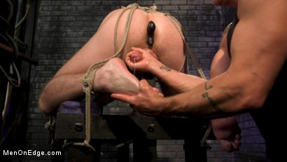 Photo number 13 from Newcomer Straight Stud Sean Holmes Submits to Dominic Pacifico shot for Men On Edge on Kink.com. Featuring Sean Holmes in hardcore BDSM & Fetish porn.