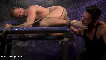 Photo number 2 from Newcomer Straight Stud Sean Holmes Submits to Dominic Pacifico shot for Men On Edge on Kink.com. Featuring Sean Holmes in hardcore BDSM & Fetish porn.