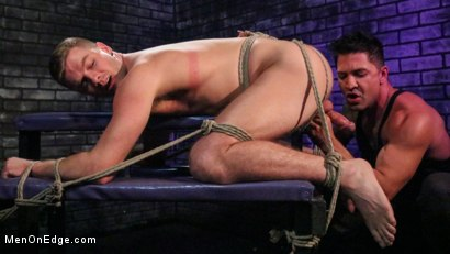 Photo number 4 from Newcomer Straight Stud Sean Holmes Submits to Dominic Pacifico shot for Men On Edge on Kink.com. Featuring Sean Holmes in hardcore BDSM & Fetish porn.