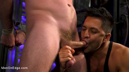 Photo number 8 from Newcomer Straight Stud Sean Holmes Submits to Dominic Pacifico shot for Men On Edge on Kink.com. Featuring Sean Holmes in hardcore BDSM & Fetish porn.