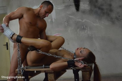 Photo number 23 from Morgan Stuck in a Torment Device shot for Struggling Babes on Kink.com. Featuring Morgan Rodriguez and Ridge in hardcore BDSM & Fetish porn.