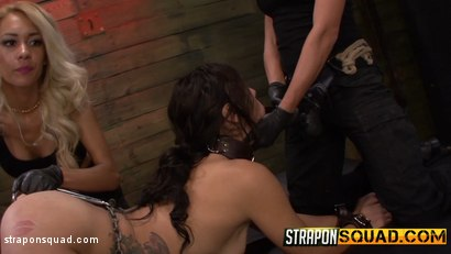 Photo number 13 from Anal Hook Double Penetration BDSM: Isa Mendez, Mila Blaze & Ava Kelly shot for Strapon Squad on Kink.com. Featuring Isa Mendez, Mila Blaze and Ava Kelly in hardcore BDSM & Fetish porn.