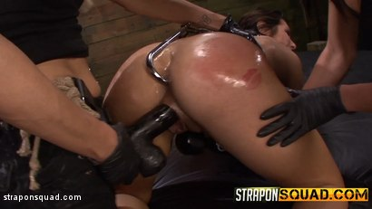 Photo number 16 from Anal Hook Double Penetration BDSM: Isa Mendez, Mila Blaze & Ava Kelly shot for Strapon Squad on Kink.com. Featuring Isa Mendez, Mila Blaze and Ava Kelly in hardcore BDSM & Fetish porn.