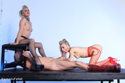 Photo number 3 from Double Trouble shot for Harmony Fetish on Kink.com. Featuring Jay Snakes, Michelle Moist and Suzie Best in hardcore BDSM & Fetish porn.