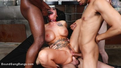 Photo number 12 from Buxom slut Lily Lane takes all the cock and gets all the cum shot for Bound Gang Bangs on Kink.com. Featuring Donny Sins, Mark Zane, Lily Lane, Apollo Knight , Johnny Goodluck  and Rob Piper in hardcore BDSM & Fetish porn.
