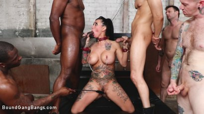 Photo number 7 from Buxom slut Lily Lane takes all the cock and gets all the cum shot for Bound Gang Bangs on Kink.com. Featuring Donny Sins, Mark Zane, Lily Lane, Apollo Knight , Johnny Goodluck  and Rob Piper in hardcore BDSM & Fetish porn.