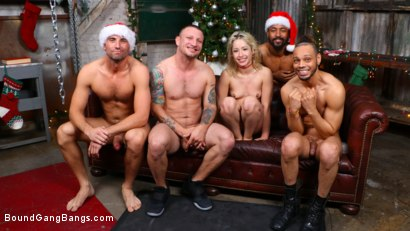Photo number 31 from A Christmas Whore: Goldie Glock Stuffed Airtight on Christmas Eve shot for Bound Gang Bangs on Kink.com. Featuring Donny Sins, Mr. Pete, Jake Adams, Dillon Cox , Stirling Cooper  and Goldie Glock in hardcore BDSM & Fetish porn.